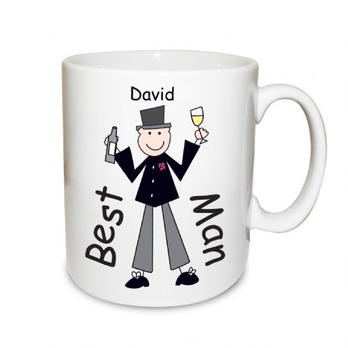 Personalised Male Wedding Character Large Mug
